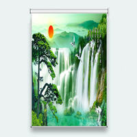 3D Roller Blinds customize High Quality Sunrise scenery Photo Roller Curtains Roller Blinds On The Windows