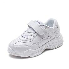 Детская обувь однотонного цвета, модная повседневная обувь на плоской подошве для мальчиков и девочек, легкая дышащая школьная спортивная обувь для бега, 2018