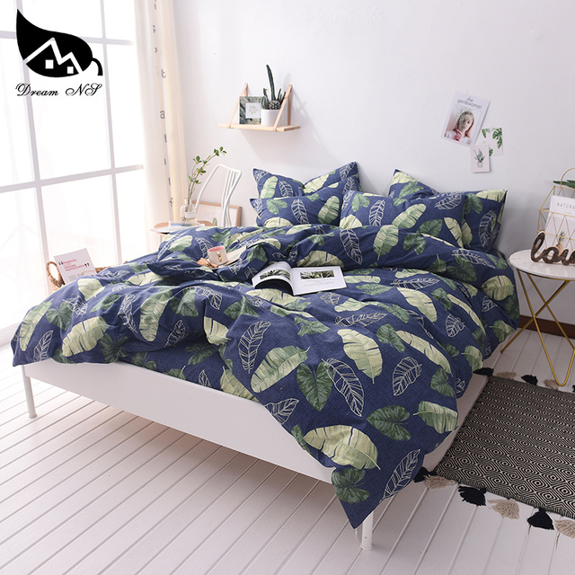 Dream NS Plants 100%Cotton Warm Soft Home Bedding Set For Duvet Cover Pillowcase Warm Soft Home Bedroom Living Room Cover Set