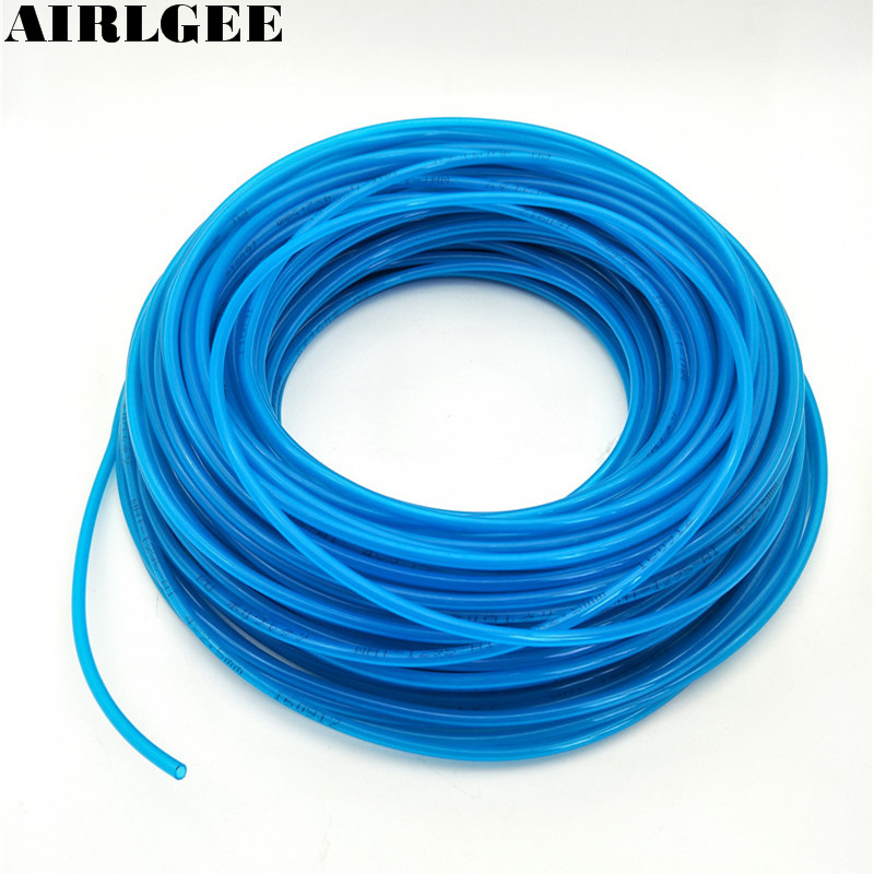 Blue 25 Meters PU Tube 4mm OD 2.5mm ID 0.75mm Wall Thickness Air Hose Pipe Free shipping free shipping high quality 5meter 4mm od pu tubing 2 5mm id blue color for pneumatics air hose tube