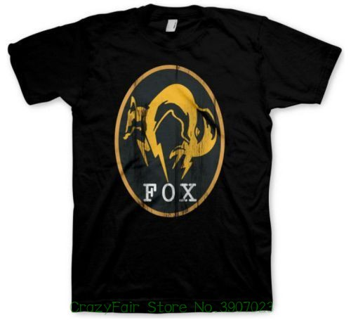 Metal Gear Solid T-shirt Ground Zeroes From The Video Game Black Cotton O-neck Tshirt Homme