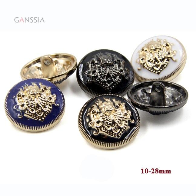 10 шт./лот Стильный дизайн кнопки металла хвостовиком для пальто Золото черную кнопку для шитья DIY аксессуары для одежды 10 28 мм (ss 7583) купить на AliExpress