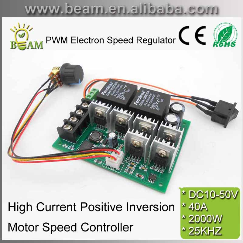 Free Shipping Dc10 50v Pwm Electron Speed Regulator With
