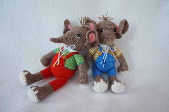 Häkelanleitung Elefant | Elefante de crochê | 379x570