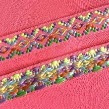 ZERZEEMOOY NEW 7/8'' 25mm 5yard/lots 100% polyester Zakka Handmade Pink geometry Woven Jacquard Ribbon dog lace QDZD19050602