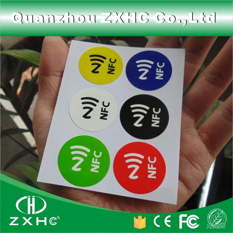 (60PCS/10SETS) NFC Sticker Label 6 Colors 13.56Mhz Ntag213 Compatible With AAll NFC Phones jacquard green label silk colors cyan [pack of 3 ]