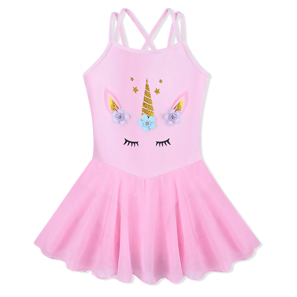BAOHULU 3-8 Years Girls Unicorn Dress Cotton Cute Kids Sleeveless Ballet Dance Leotard Cross Tutu Pink Children Dancer CostumeBAOHULU 3-8 Years Girls Unicorn Dress Cotton Cute Kids Sleeveless Ballet Dance Leotard Cross Tutu Pink Children Dancer Costume