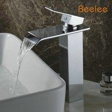 Beelee Q3003H Оптом И В Розницу Хромированная Отделка Водопад Ванной Кран Смесителя Ванной Бассейна Кран с Горячей и Холодной Воды