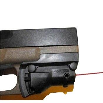 Caza punto rojo láser 5mw vista láser punto rojo para Glock 19 23 22 17 21 37 31 20 34 35 37 38 pistola Rifle Airsoft caza