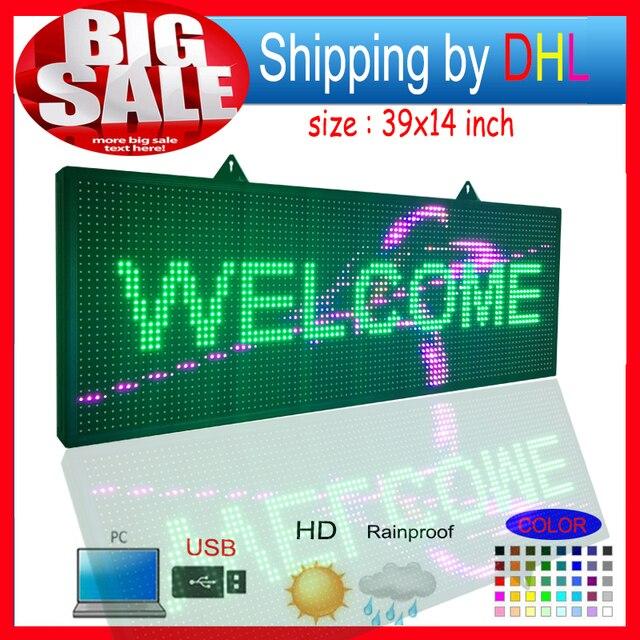 P10RGB полноцветный открытый водонепроницаемый светодиодный экран/программируемый СВЕТОДИОД прокрутка сообщение знаки/для рекламы и вывески