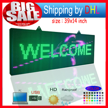 P10RGB full color outdoor waterproof led billboard programmable LED scrolling message signs for commercials and shop