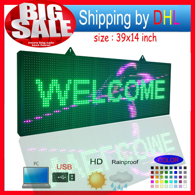 P10RGB full color outdoor waterproof led <font><b>billboard</b></font> / programmable LED scrolling message <font><b>signs</b></font> / for commercials and shop <font><b>signs</b></font> image