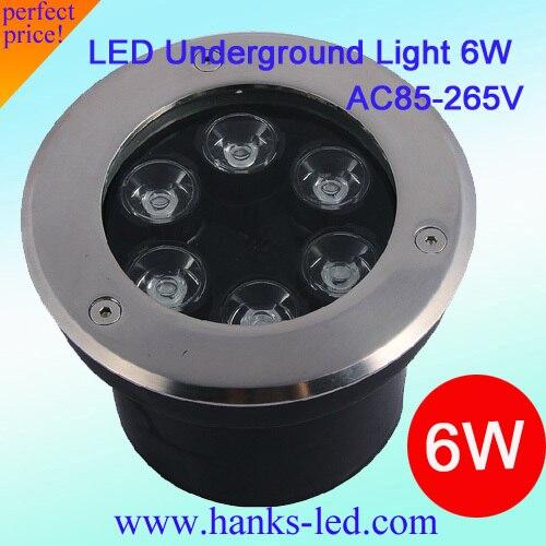 Высокая мощность 6 Вт светодиодный подземный светильник