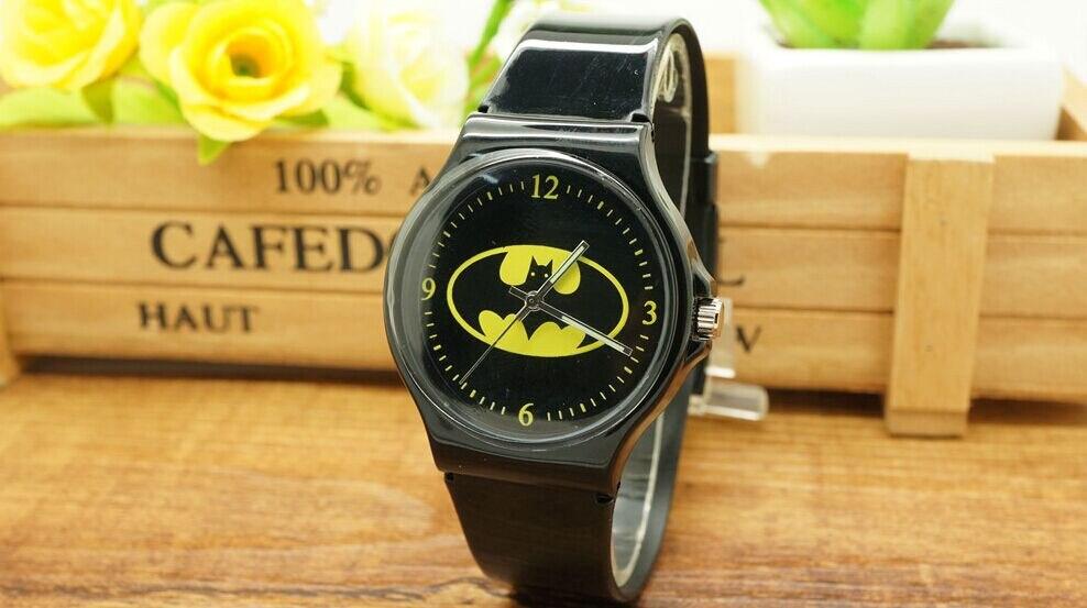 1Pcs 3D Cartoon Fashion Batman Boys Girls Children Sports Waterproof Wristwatch Gift Watch Relogio Feminino Brand Kids Watch