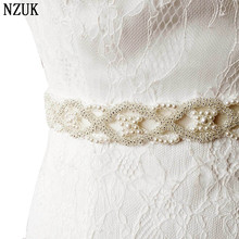 FREE SHIPPING S221 Pearls Wedding Belts Bride Bridesmaid Sash Belt For the Wedding Evening Party Bridal Dress Belts