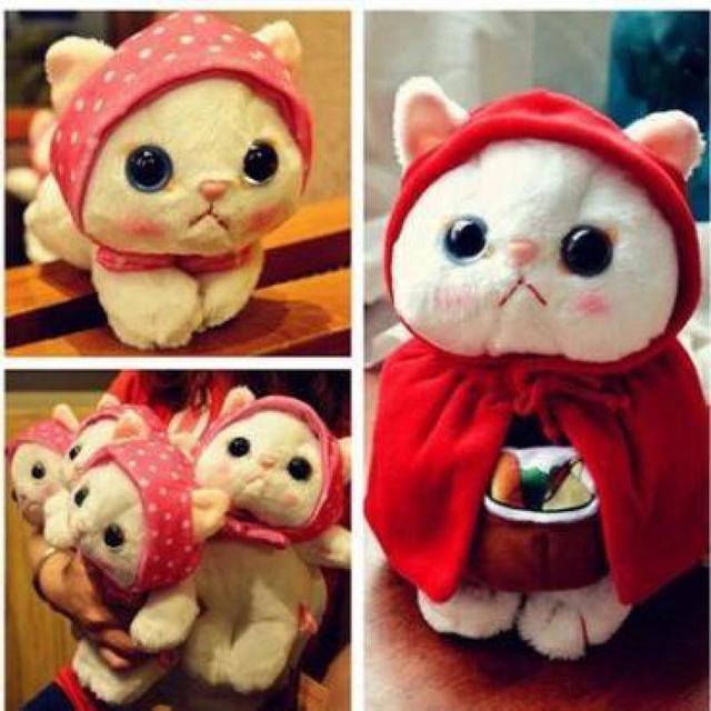 1a11fde3f6c Super Kawaii 1pcs 25cm Choo Choo Cat Scarf Plush Toy Cute Hello Kitty Cats  Dolls Soft Stuffed Animal doll Girls Birthday Gifts