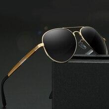Aluminium Magnesium Men's Polarized Mirror Sun Glasses Male Driving Fishing Eyewears Accessories Sunglasses Men with Box F009