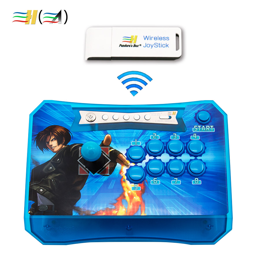PC / ps3 / Raspberry / xbox 360 Android 용 USB 키 무선 수신기 키트 컨트롤이 포함 된 Pandora 's Box 무선 아케이드 조이스틱