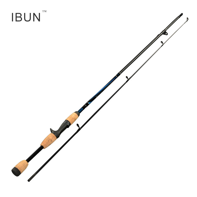 IBUN 1.8m Fishing Rod M Actions Lure Casting Sea Fishing Spinning Rods Straight Handle 2 Paragraphs