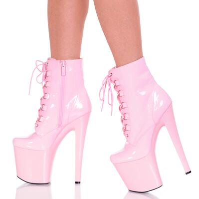 New fashion ankle boots for women 15 cm 20 cm high heel shoes Autumn pink black white boots ladies sexy steel pipe dance shoes white model stage performance women s boots autumn winter low tube boots crystal shoes 15cm high heel dance shoes