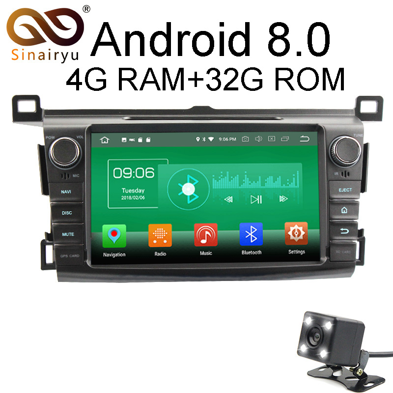 Sinairyu 4 г Оперативная память Android 8.0 автомобильный DVD для Toyota RAV4 RAV 4 2013 2014 2015 Octa core 32 г встроенная память Радио GPS плеер головное устройство
