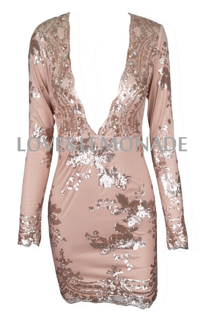 Compare Prices on Sequined Gold Dress Long Sleeves- Online ...