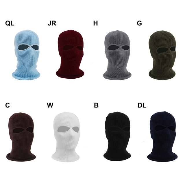 2/3 Hole Full Face Cap Outdoor Balaclava Riding Motorcycle Mask Knitting Face Mask Ski Mountaineering Head Cover 3