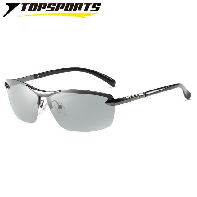 ea65cfb6271 TOPSPORTS photochromic polarized Sunglasses nickel free alloy sports men  driving fishing Glasses UV400 eye protective Eyewear