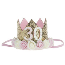 Thirty Flirty Birthday Crown 30th birthday crown for her 30 Hat Dirty Gold Blush
