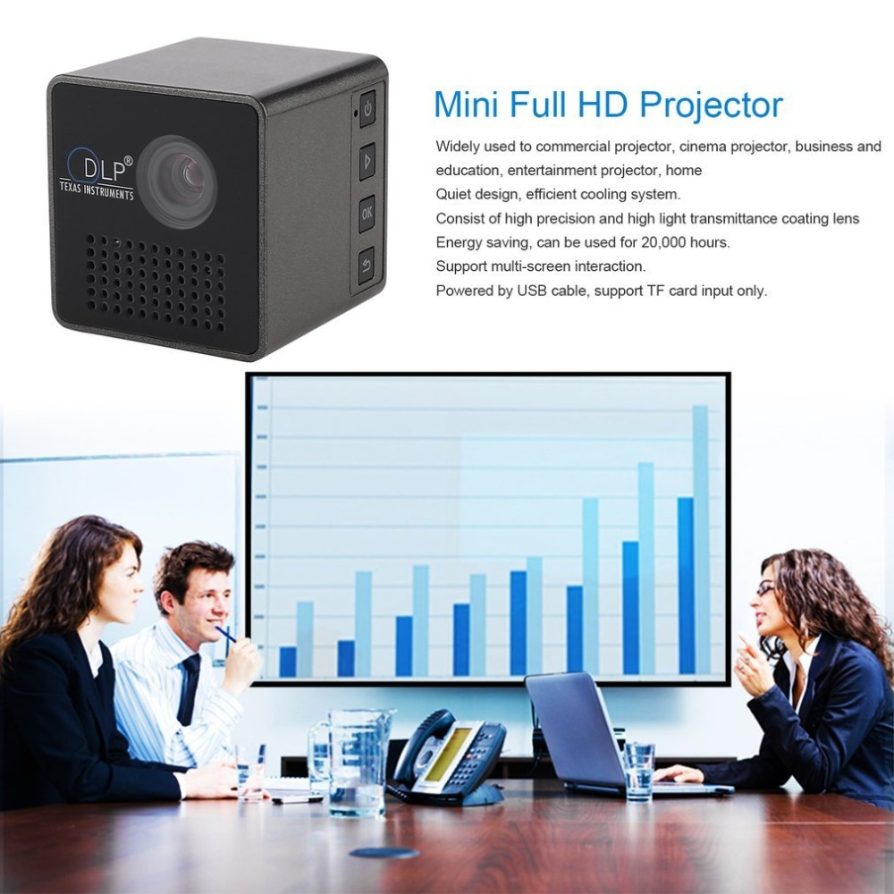 NO-P1 Mini Portable 1080P Full HD LED Projector DLP Home Movie Theater Entertainment Device TF Card Input ProjectorNO-P1 Mini Portable 1080P Full HD LED Projector DLP Home Movie Theater Entertainment Device TF Card Input Projector