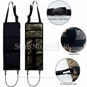 Image 4 - Portable Multi Function Camouflage Hunting Bag for Car Rear Seat Belt Gun Rack travel Hunt supplies Muti pockets shotgun sling