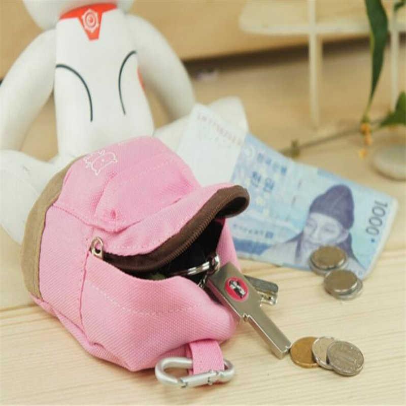 CHICDREAM 5 สีแฟชั่นกระเป๋าเป้สะพายหลังพวงกุญแจกระเป๋าสตางค์การ์ตูนกระเป๋า Keyring จี้สำหรับผู้หญิง