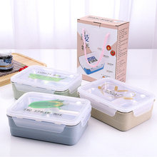 цена на Fantastic Kitchen 2017 Double Bento Box Lunch Box Food Fruit Container Lunch box Bento Box Microwave With Spoon and fork Sets