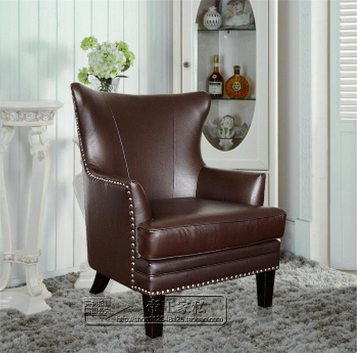 European American Fabric Sofa Leather Club Chairs Tiger Personality Armchair High Back Retro Living Room In Garden Sofas From Furniture On