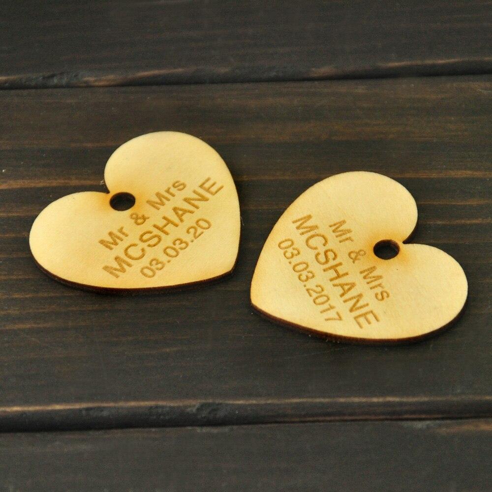 Aliexpress Buy Rustic Wedding Wooden Favors Personalised