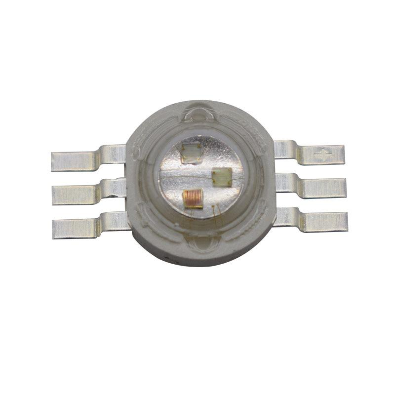 100X hot prodej 6pin 9W vysokovýkonný rgb led nejlepší kvalita 9w rgb led lamp korálky s 6pin doprava zdarma