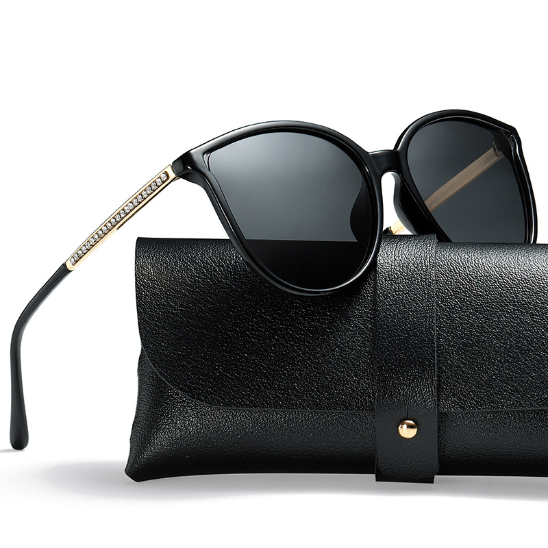 6e32bb8d0 Vazrobe 2019 Women Polarized Sunglasses Cat Eye Sun Glasses for Woman  Polaroid Rhinestone Female Fashion Cateye