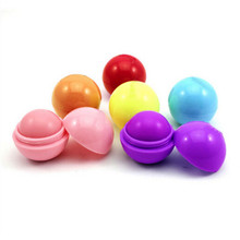 Selling a single product of natural plant moisturizing lip balm ball creative spherical six-color lipstick