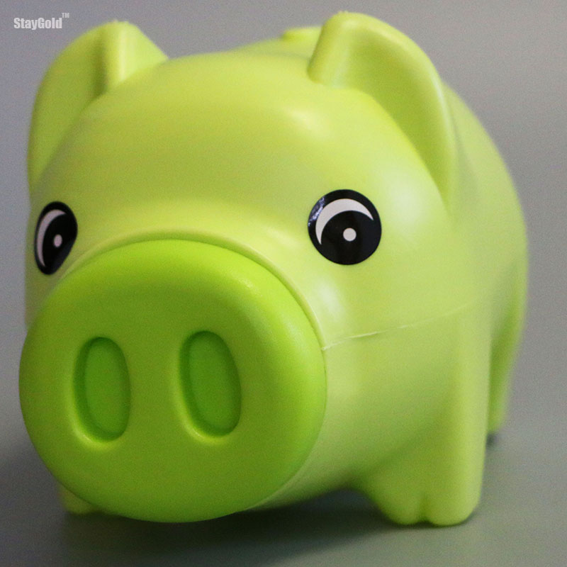 StayGold money box piggy bank resin cartoon coin storage 3 colors options SG01