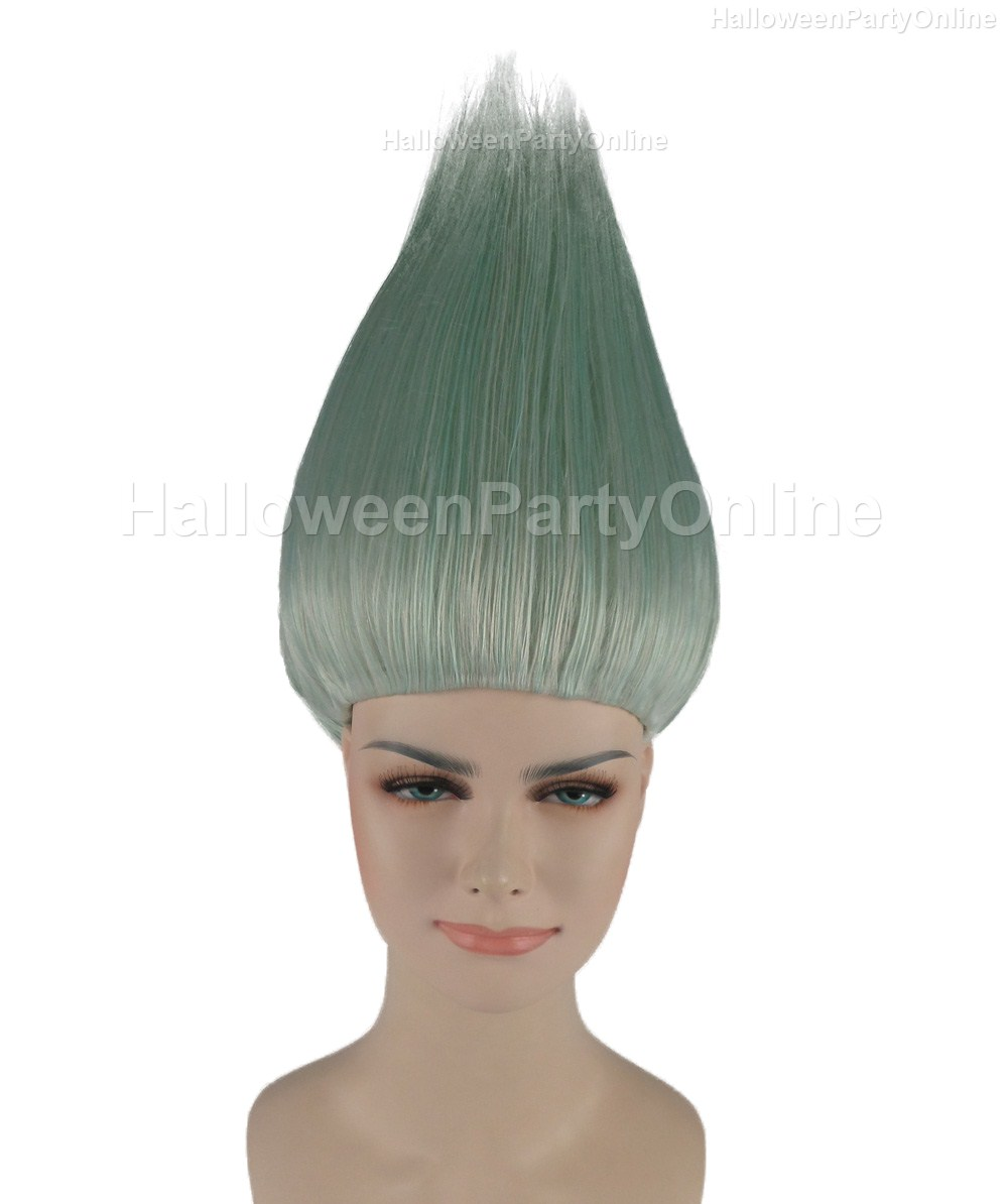 Halloween Party Online Trolls Wig Silver White Costume Cosplay HW ...