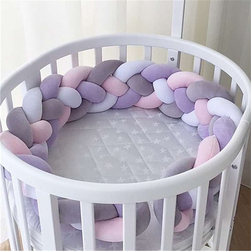 caef3956185 Online Shop Nordic Style Plush Stuffer Long Knotted Braid Pillow Baby Crib  Bumper Cushion Set Baby Room Decoration Gift Plush Knot Pillow