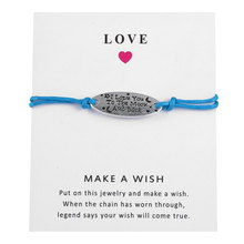 Bracelet With Wish Card For A Gift That Is Unique And Expresses Your Heart Adjustable Chain Wish Jewelry Wholesale(China)