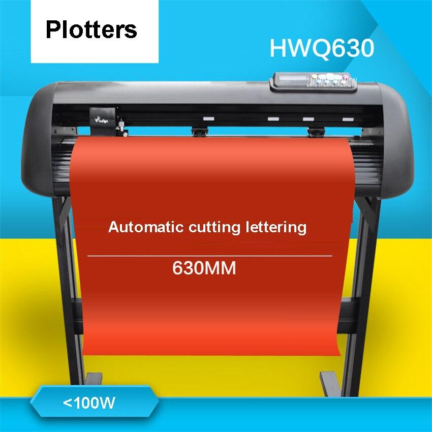 110 V/220 V HWQ630 режущий плоттер с подставкой для одежды/Силуэт отражающий пресс черенки машина Авто контур 650 мм/сек.