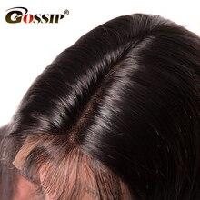 Сплетни Синтетические волосы на кружеве Человеческие волосы Парики для черный Для женщин 150 плотность бразильский прямые волосы парик 12*6 глубокий часть швейцарских Кружева парик не remy