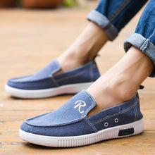 2019 Fashion Denim Men Canvas Shoes Male Summer Mens Sneakers Slip On Casual Breathable Shoes Loafers Chaussure Homme men canvas flats shoes summer breathable casual sneakers male slip on solid comfortable loafers chaussure homme