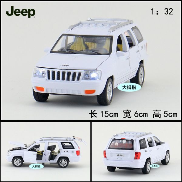 Gift for baby 1pc 1:32 15cm delicate Grand Cherokee jeep car acousto-optic alloy pull back model children boy toy