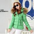 Down Parka 2016 Short Winter Jacket Women Slim Down Jacket Hooded Female Jacket Fur Winter Coat Women 1632401