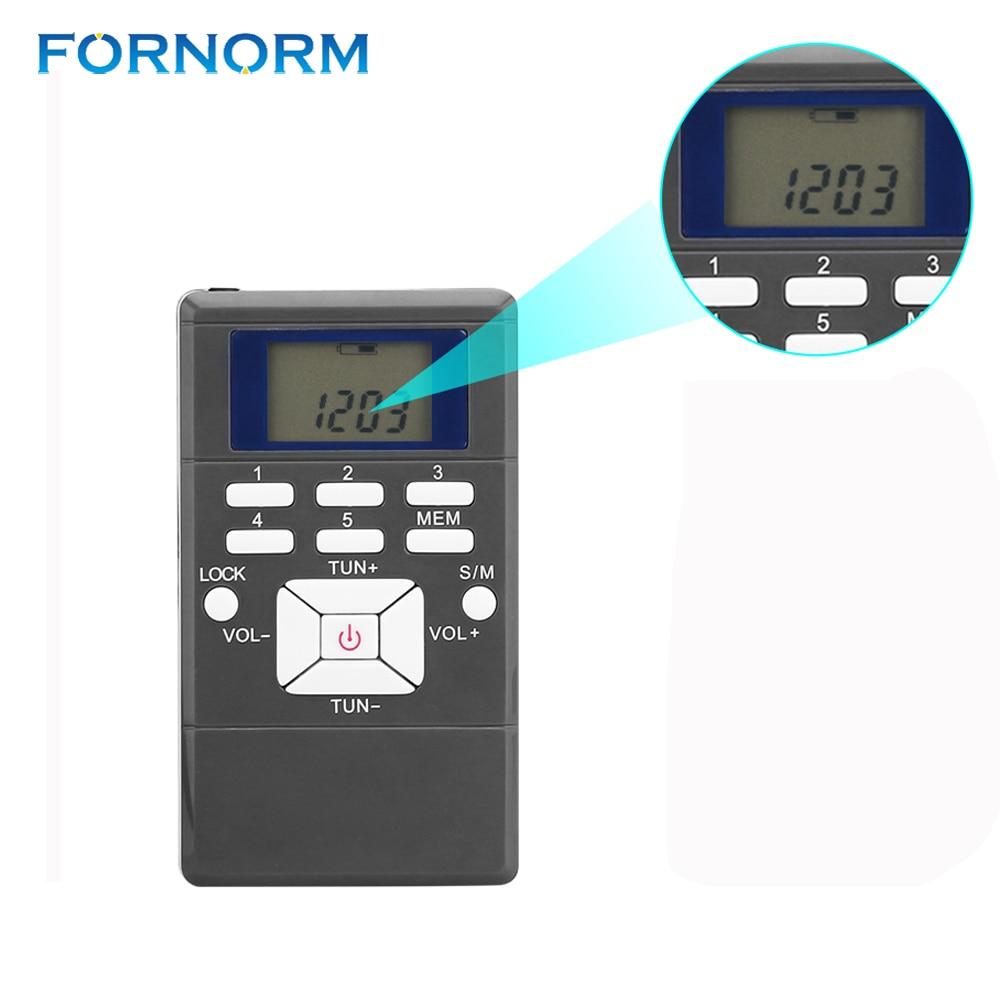 Unterhaltungselektronik 100% Wahr Fornorm Mini Digitale Fm-radio-empfänger Portable Kompakte Am/fm/kurzwelligen Radio Mit Kopfhörer/string