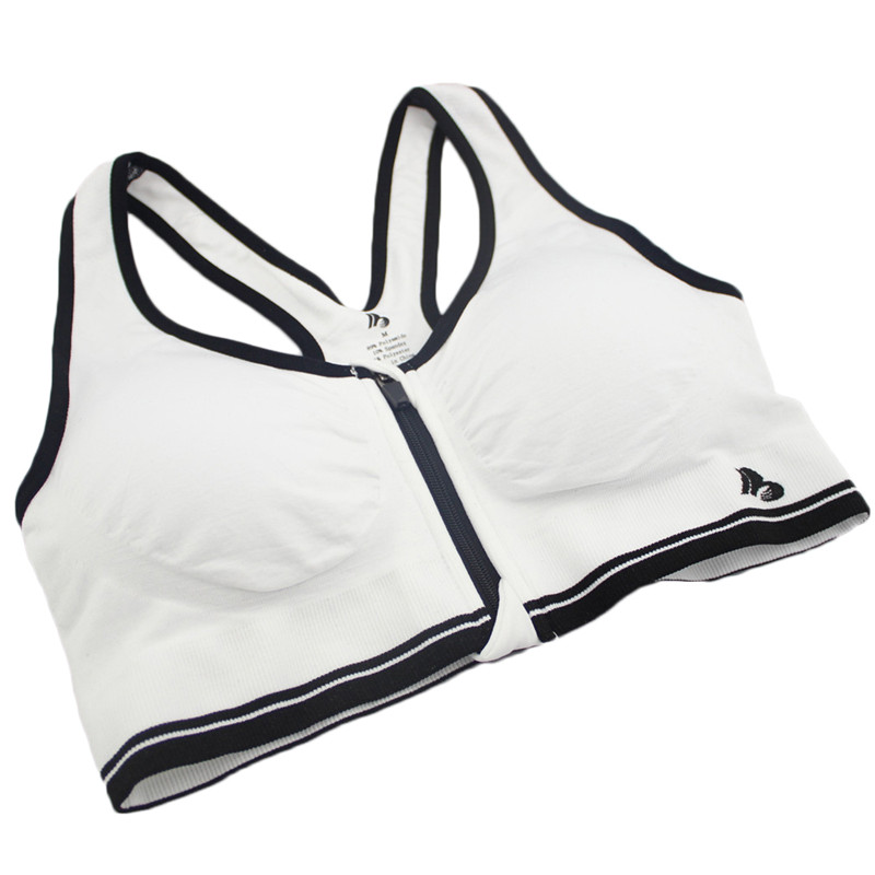 B.BANG 17 New Women Zipper Bra Push Up Crop Top Seamless Sexy Shakeproof Underwear M-XXXL Big Size Wholesale Brassiere 28