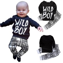 Autumn Winter Baby Boy Clothes Long Sleeve Letter Printed Top + Pants 2 Pcs Sport Suit Newborn Infant Clothing Set
